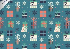 Free vector Abstract christmas gifts pattern #31392