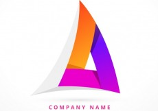 Free vector Abstract colorful triangular logo #32772
