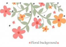 Free vector Abstract Flowers Background Vector #28231