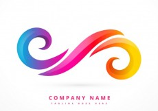 Free vector Abstract logo made with colorful swirls #32774