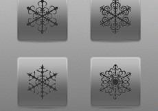 Free vector Abstract snowflakes buttons #33601