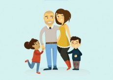 Free vector Adorable family illustration #32068