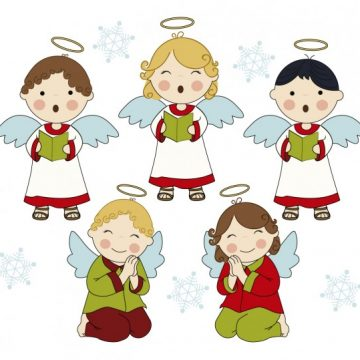 Free vector Adorable singing angels #29359
