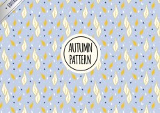 Free vector Autumn leaves pattern #34381