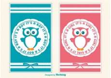 Free vector Baby Announcement Cards #33802