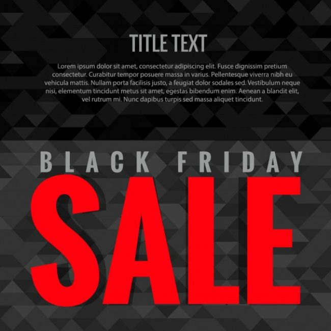 Free vector Background of Black friday with red letters #30803