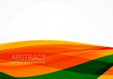 Free vector Background with orange and green waves #30170