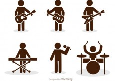 Free vector Band Stick Figure Icons Vector Pack #34586