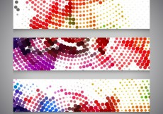 Free vector Banners with colorful dots #29155