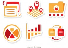 Free vector Big Data Icons Vector Pack #34041