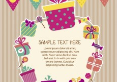 Free vector Birthday card in scrapbook style #34064