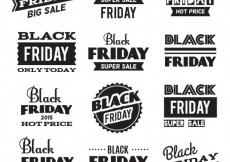 Free vector Black friday badges collection #29421