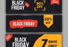 Free vector Black friday banners collection #32250
