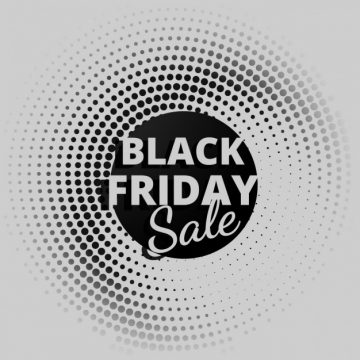 Free vector black friday sale background in halftone style #30791