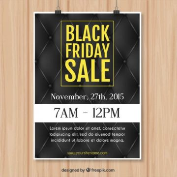 Free vector Black friday sale poster #33436