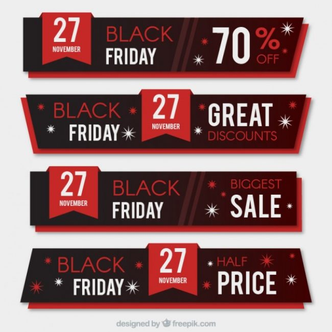 Free vector Black friday sales banners #29423