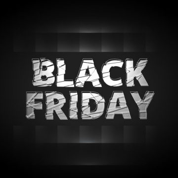 Free vector black friday shatter text style design #29684
