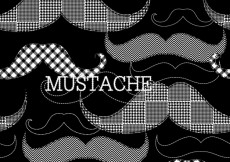 Free vector Black wallpaper with mustaches #30430