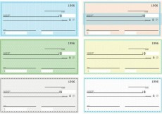 Free vector Blank Check Vector Pack #32253