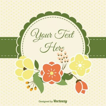 Free vector Blank Floral Card #30475