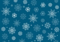 Free vector Blue background with white snowflakes #34591