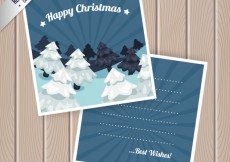 Free vector Blue christmas card #33717