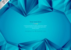 Free vector Blue polygons background #28865