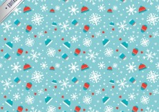 Free vector Blue winter pattern #29175