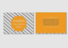Free vector Bold Orange Wedding Invitation Vector Template #28911
