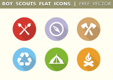 Free vector Boy Scouts Flat Icons Free Vector #31836