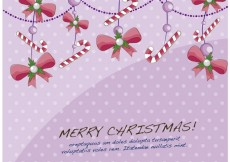 Free vector Card with christmas decorations #33765