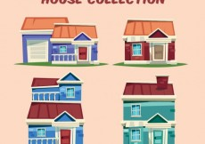 Free vector Cartoon houses collection #29189