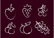 Free vector Chalk Drawn Berry Vector #31977