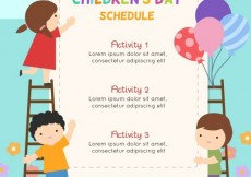 Free vector Children's day programme template #31626