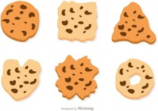 Free vector Chocolate Chip Cookie Vector Set #33349