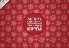 Free vector Christmas and New Year Red Background #28705