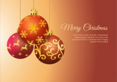 Free vector Christmas background with  hanging christmas balls #29331