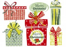 Free vector Christmas card with presents #34599