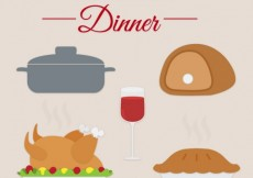Free vector Christmas Dinner Set #31485