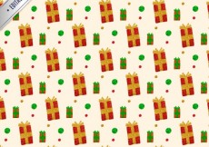 Free vector christmas gift pattern #28871