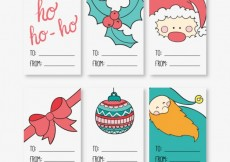 Free vector Christmas Label Collection #28751