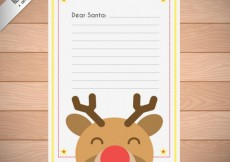 Free vector Christmas letter with a cute reindeers #29836