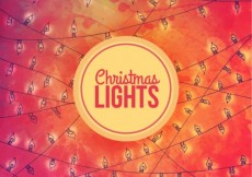 Free vector Christmas lights background in watercolor style #32158