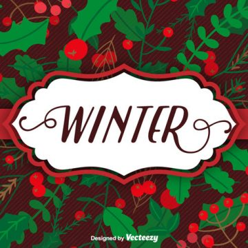 Free vector Christmas plants background and label #29282