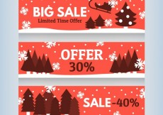 Free vector Christmas sales banners #28347