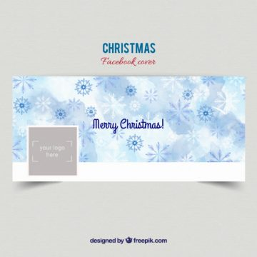 Free vector Christmas snowflakes facebook cover #32864