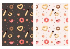 Free vector Churros and donut pattern #29769