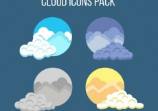 Free vector Cloud icons pack #32506