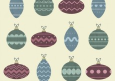 Free vector Collection of abstract christmas balls #31297