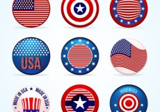 Free vector Collection of american badges #33988